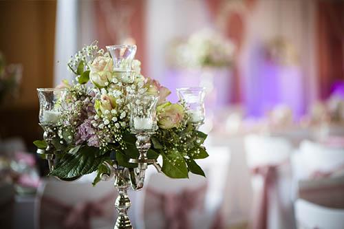Blumengesteck Hochzeitsdeko