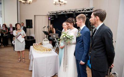 mpfang des Brautpaar